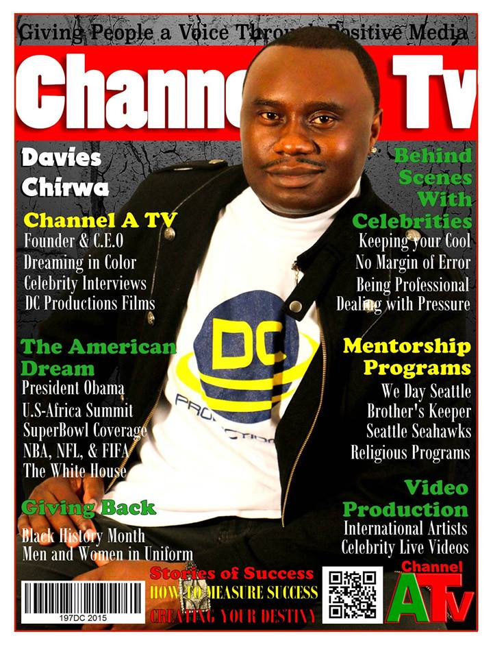 Davies Chirwa featured on Channel A TV Magazine Cover