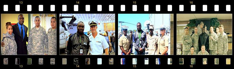 Davies Chirwa with U.S Miliry Troops