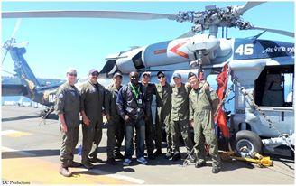 Davies Chirwa working with the U.S Navy Seals