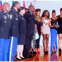 Davies Chirwa working with young African Women and the U.S Troops