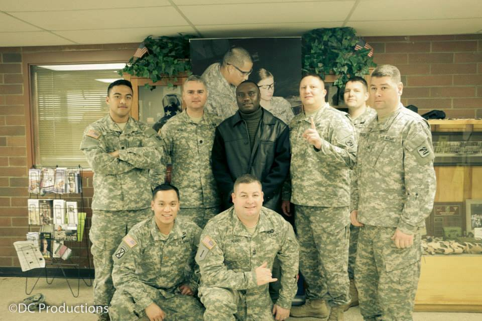 Davies Chirwa - Behind Scenes with The U.S Troops at Fort Lewis McCord Base