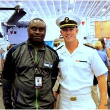 Davies Chirwa working with The U.S Troops