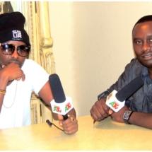 Davies Chirwa interviewing Eddy Kenzo