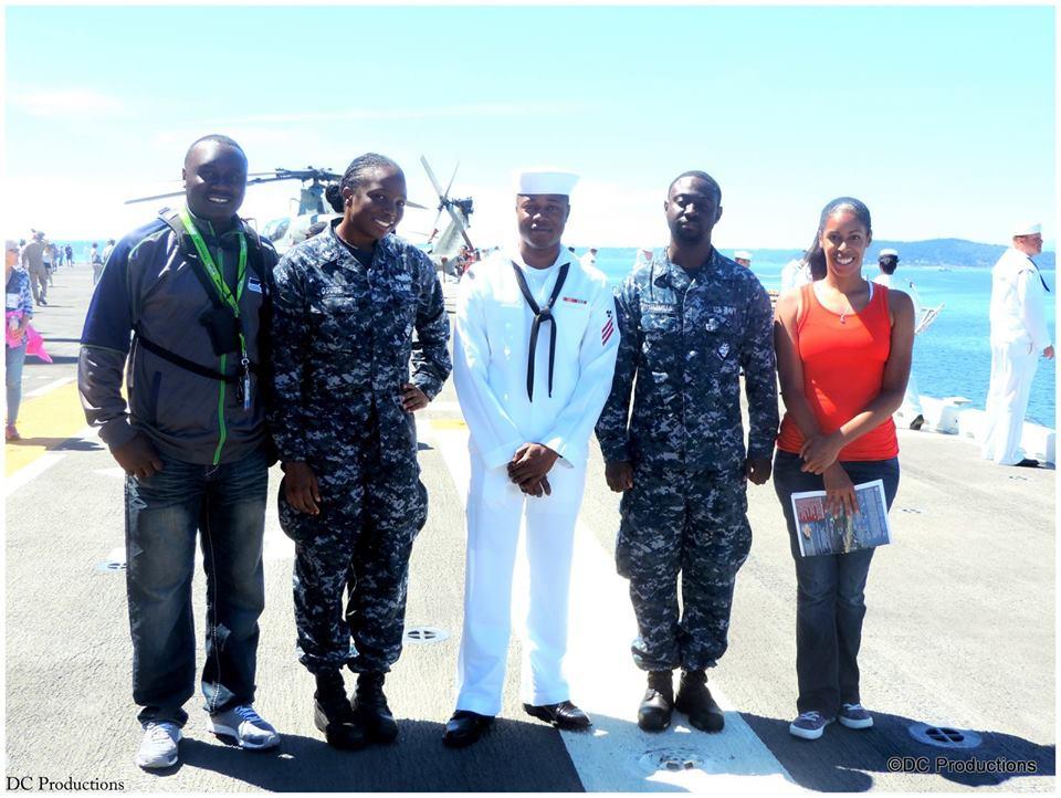 Davies Chirwa creating a documentary with the U.S Navy