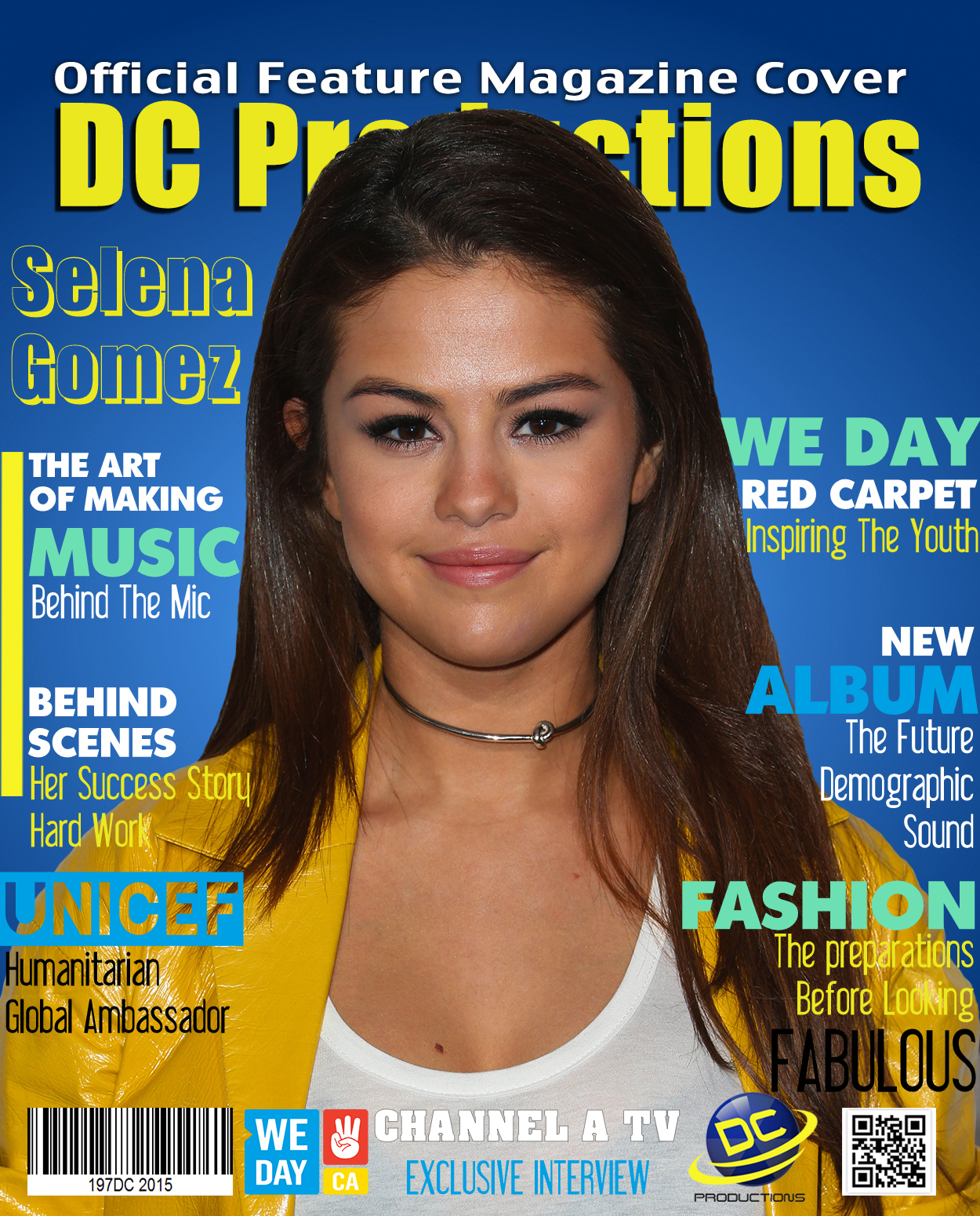 Selena Gomez Official DC Productions Magazine Directed By Davies Chirwa